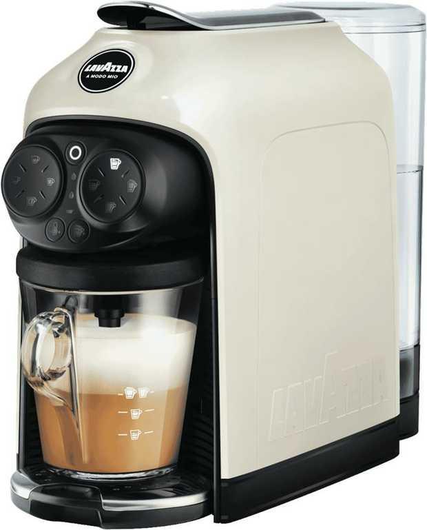Using this Lavazza Desea White Cream Capsule Coffee Machine you can create deliciously rich coffee in...