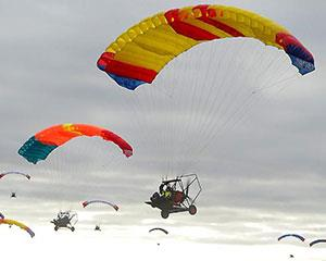 Get your heart racing and embrace extreme heights with an aerochute instructional flight over Werribee...
