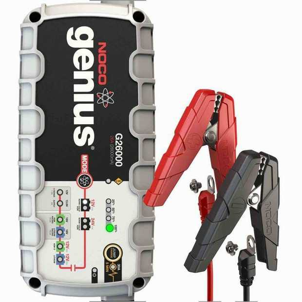 The G26000 is a portable automatic battery charger and maintainer for both 12V and 24V lead-acid and...