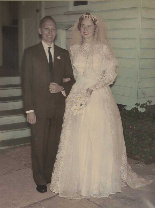 Neville and Gloria.qc Engaged 14/05/1959,qc Married on 14/05/1960,qc but had to wait...