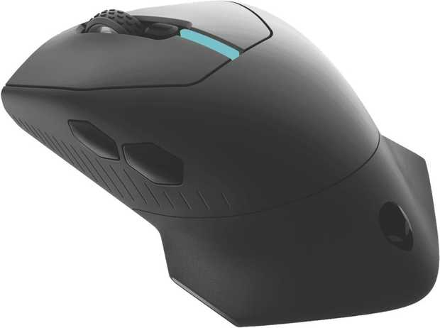 Full-sized wireless gaming mouse with 300 hours of play per battery and six fully programmable buttons...