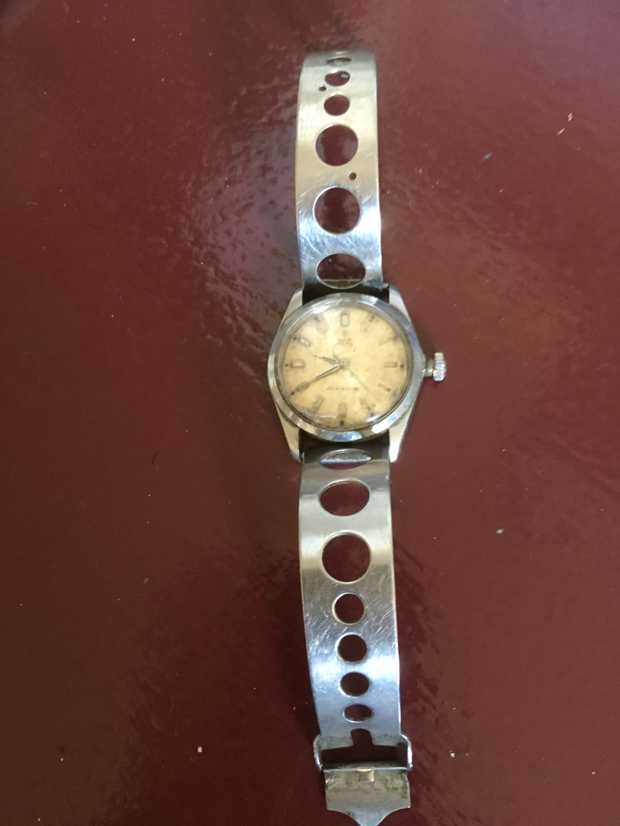 Original Tudor oyster watch by Rolex.  50 years sole ownership.  Good condition Call George 0266...