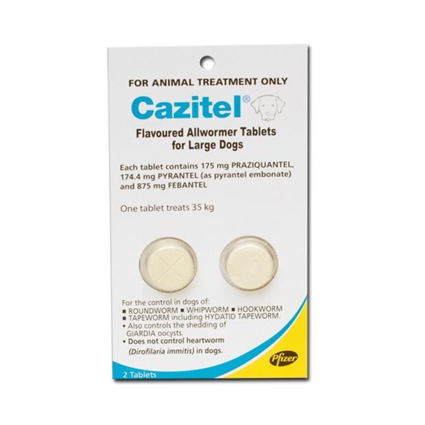 cazitel flavoured allwormer tablets for large dogs  2 pack | Cazitel dog Flea&Tick; Control | pet...