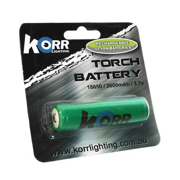 This is a replacement 18650 size lithium-ion battery to suit Hard Korr KT6 torches and T600 head...