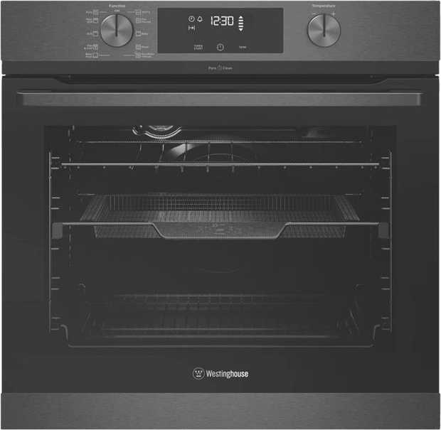 This Westinghouse 60cm Pyrolytic Oven - Dark Stainless WVEP617DSC has a 72 litre usable capacity with...