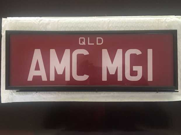 PRESTIGE PLATES    One of a kind  AMCMG1  Still in box