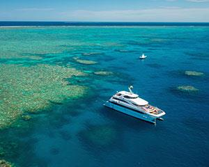 Explore one of the wonders of the world, the Great Barrier Reef, on this full day cruise to two...