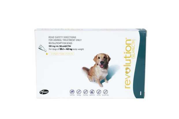 Revolution Flea & Heartworm Control for Dogs 20.1-40kg - Single Dose