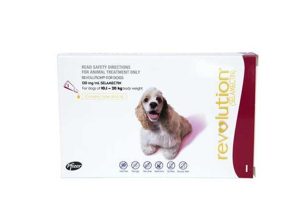 Revolution Flea & Heartworm Control for Dogs 10.1-20kg - Single Dose