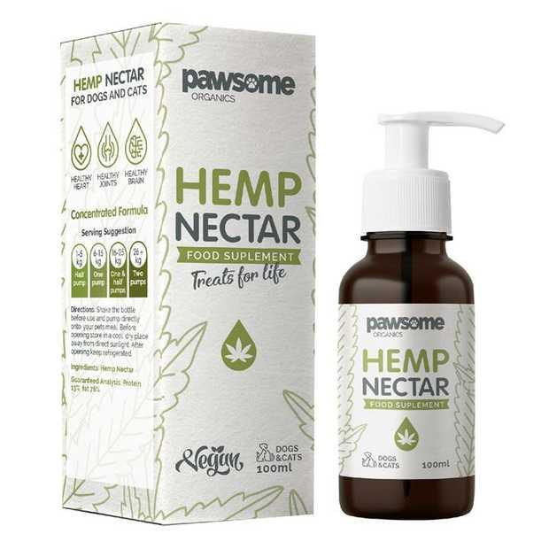 Pawsome Organics Australian Hemp Nectar for Cats and Dogs 100ml