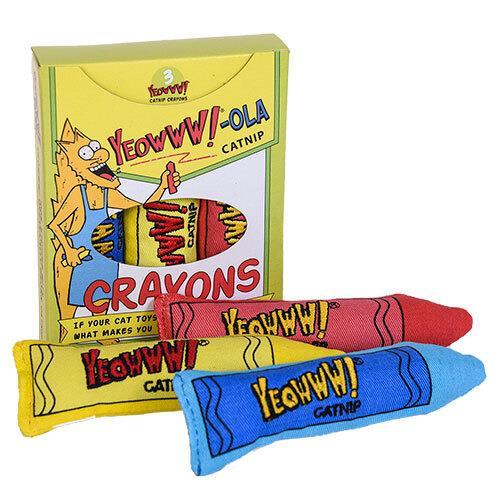 Yeowww!-Ola Catnip Crayons with 3 Catnip Cat Toys