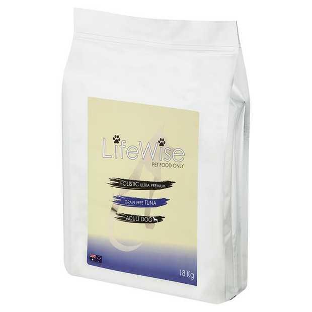 Lifewise Australia Dry Dog Food Grain Free Wild Tuna with Lamb & Vegetables 18kg