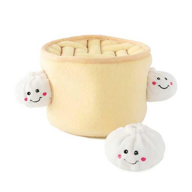Zippy Paws Zippy Burrow Interactive Dog Toy - Soup Dumplings