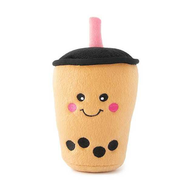 Zippy Paws NomNomz Squeaker Dog Toy - Boba Milk Tea