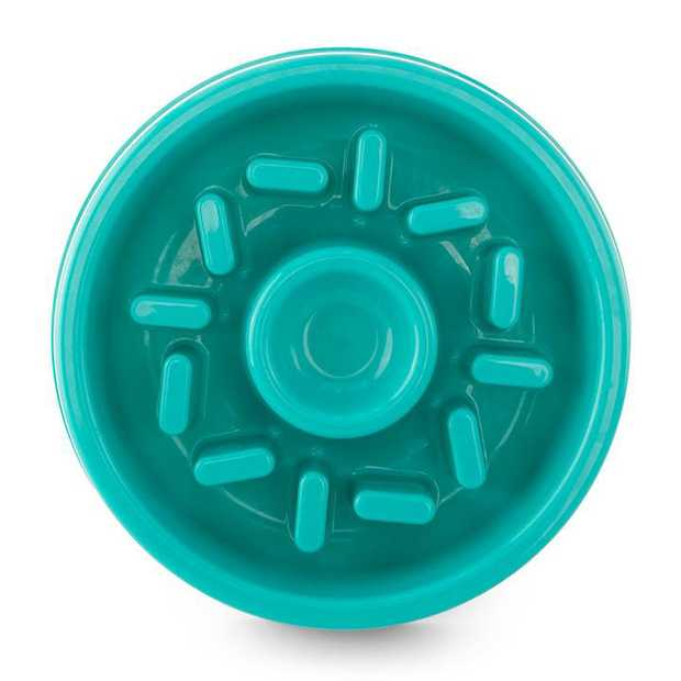 Zippy Paws Happy Bowl Slow Feeder for Dogs - Donut