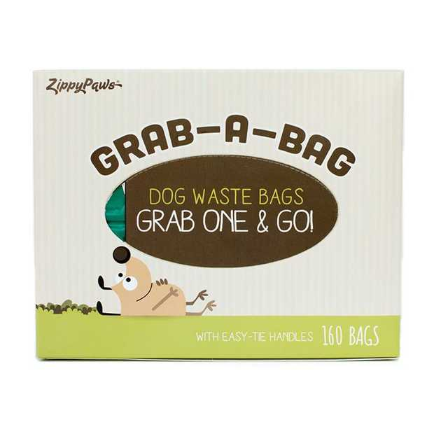 Zippy Paws Unscented Dog Poop Bags Green - Box of 160 Bags