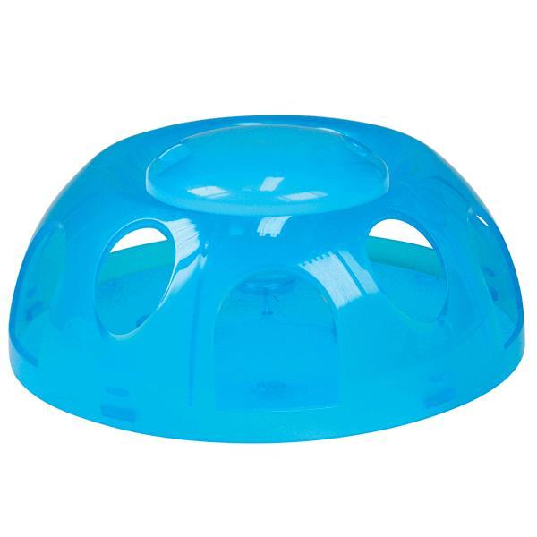 Smartcat Tiger Diner Interactive Slow Feeder Cat Bowl - Transparent Blue Plastic