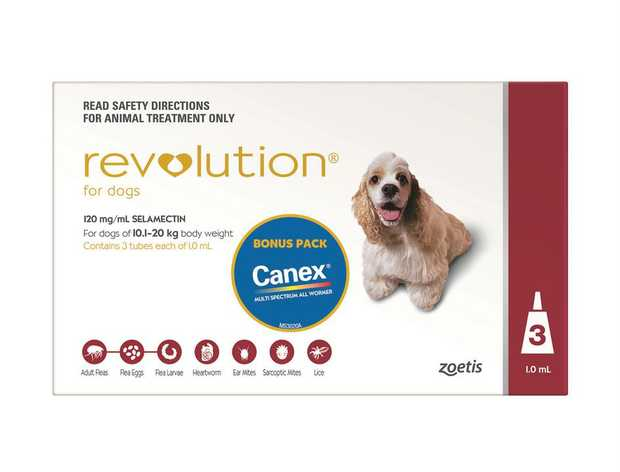 Revolution Flea & Heartworm Control for Dogs 10.1-20kg - 3 Pack
