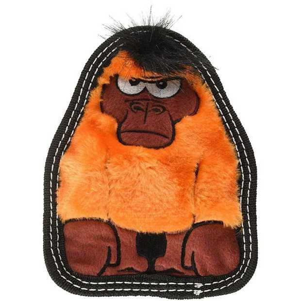 Outward Hound Tough Seamz Squeaker Dog Toy with No Stuffing - Gorilla