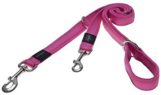Black Dog Double-Ended Training Dog Lead - Small Width - Pink