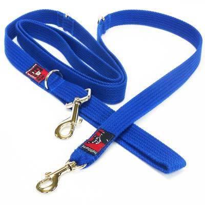 Black Dog Double-Ended Training Dog Lead - Regular Width - Blue