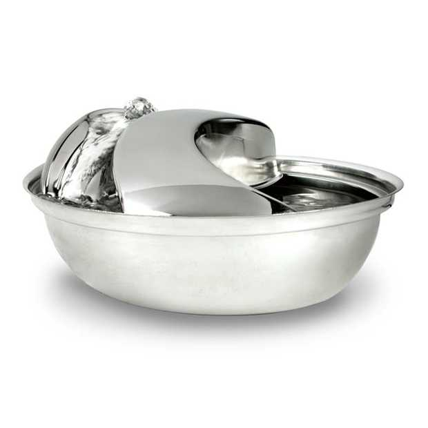 Pioneer Raindrop Stainless Steel Pet Water Fountain 1.6 litres