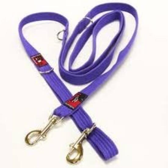 Black Dog Halter Double Lead for Head Halters - Small Width - Purple
