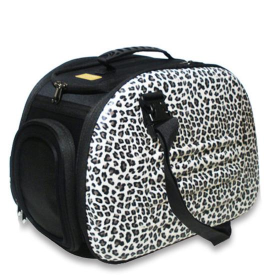 IBIYAYA Classic EVA Collapsible Pet Carrier - Safari Leopard