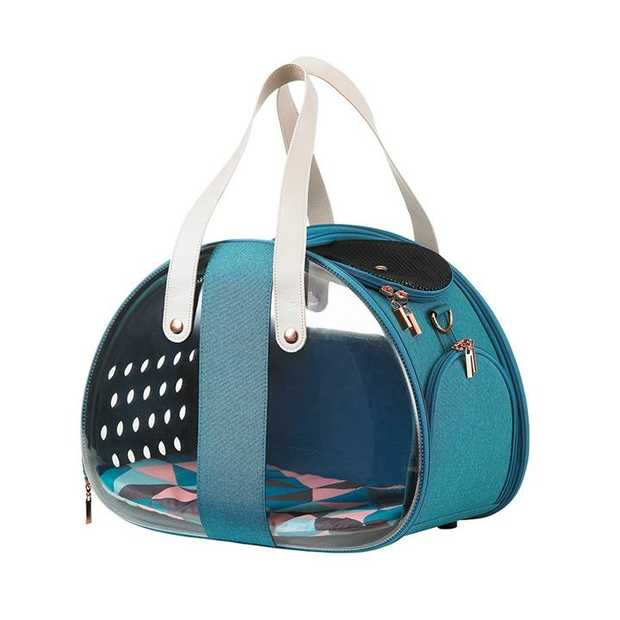 Ibiyaya Bubble Hotel Semi-transparent Pet Carrier for Cats and Dogs up to 6kg - Turquoise