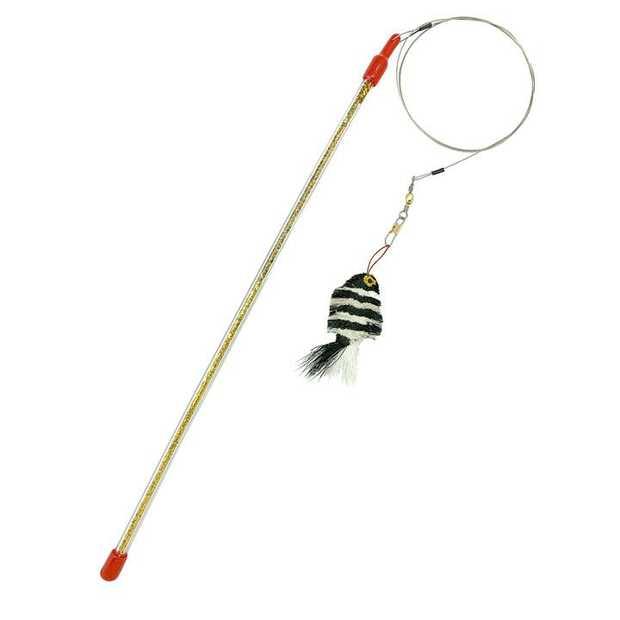 Go Cat Da Zebra Fish Da Bird Cat Wand Toy - Complete Kit