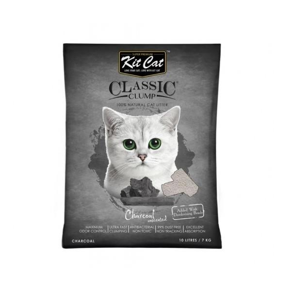 Kit Cat Ultra Fast Classic Clumping Bentonite Cat Litter 10 litres/7kg - Charcoal