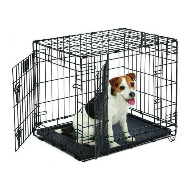Midwest Contour Double Door Dog Crate with Divider [Size: 30 - 830DD]