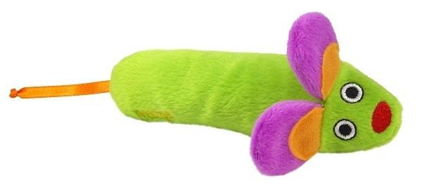 Petstages Green Magic Mightie Mouse Catnip Infused Kickaroo Cat Toy