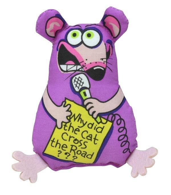Petstages Madcap Standup Mouse Plush Catnip Canvas Cat Toy