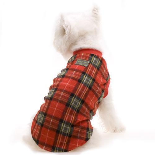 Hamish McBeth Slip-On Dog Pyjamas - Red Tartan - 40cm