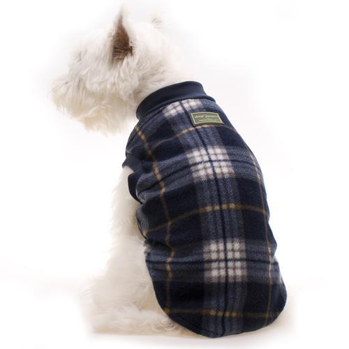 Hamish McBeth Slip-On Dog Pyjamas - Blue Tartan - 30cm