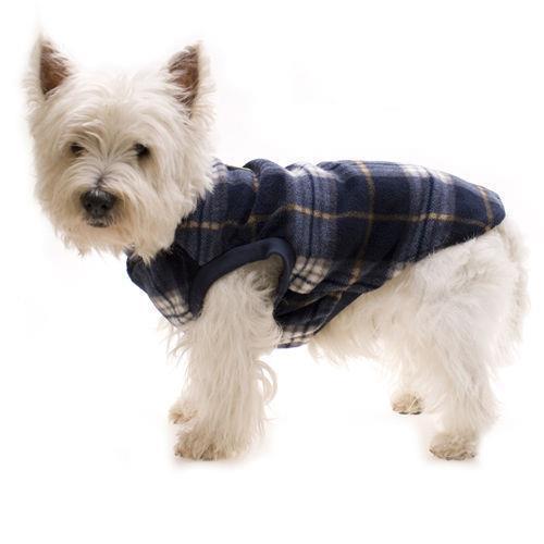 Hamish McBeth Slip-On Dog Pyjamas - Blue Tartan - 45cm