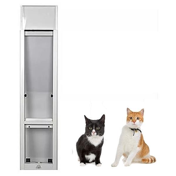 Patiolink Cat Window Insert for Sliding Windows [Height: 0.8m - 1.2m] [Grey]