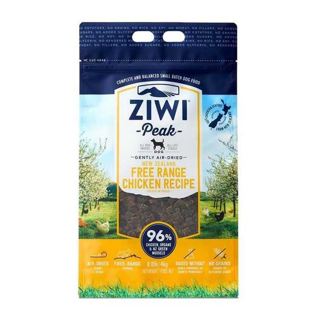 Ziwi Peak Air Dried Dog Food 4kg Pouch - Free Range New Zealand Chicken