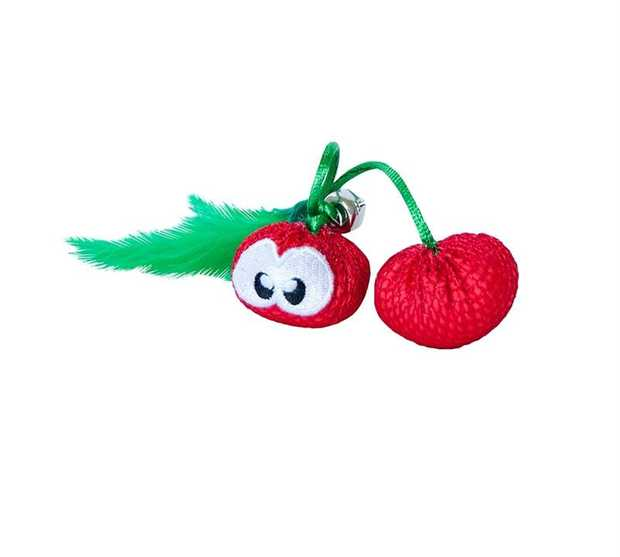 Petstages Dental Cherries Dental Care Cat Chew Toy with Catnip