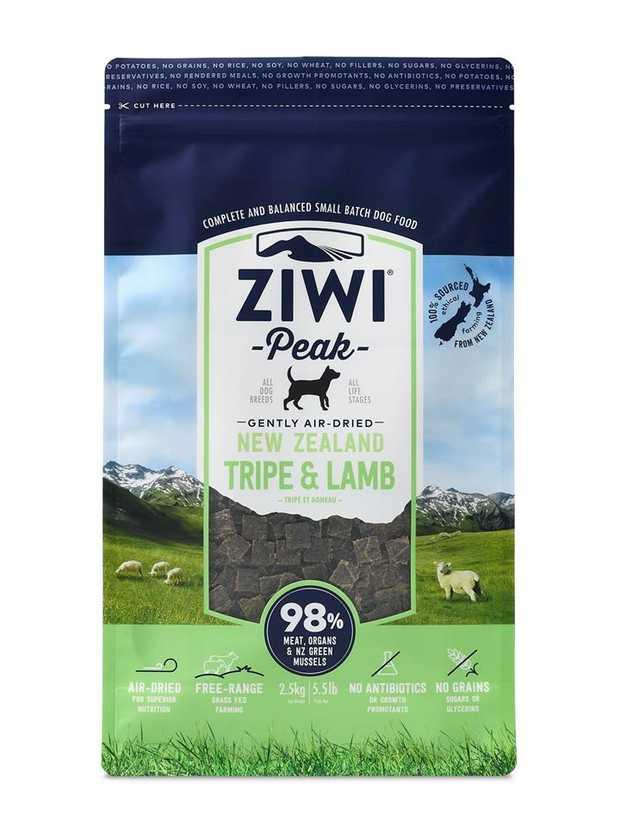 Ziwi Peak Air Dried Dog Food 2.5kg Pouch - Tripe & Lamb