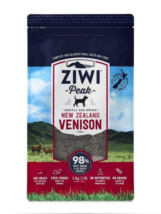 Ziwi Peak Air Dried Dog Food 2.5kg Pouch - Venison
