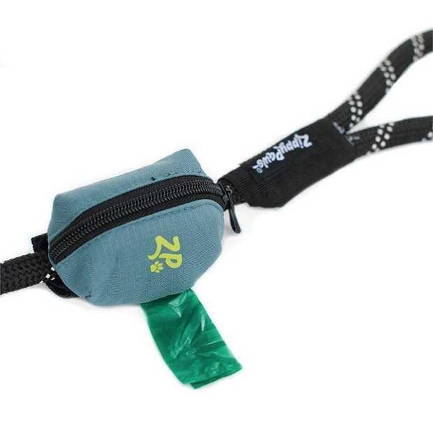 Zippy Paws Adventure Leash Dog Poop Bag Dispenser + BONUS Roll - Green