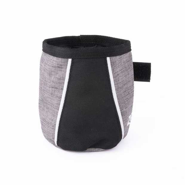 Zippy Paws Dog Treat & Training Bag - Attach to Belt Loop or Wasteband - Graphite Grey