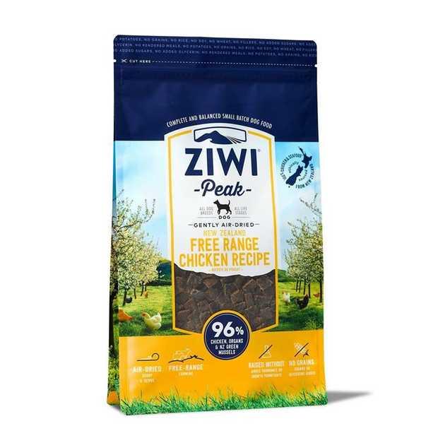 Ziwi Peak Air Dried Dog Food 2.5kg Pouch - Free Range Chicken