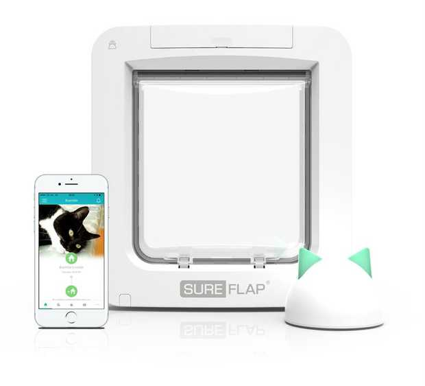 Sure Petcare Sureflap Microchip Connect Cat Door (with HUB) - Door + HUB