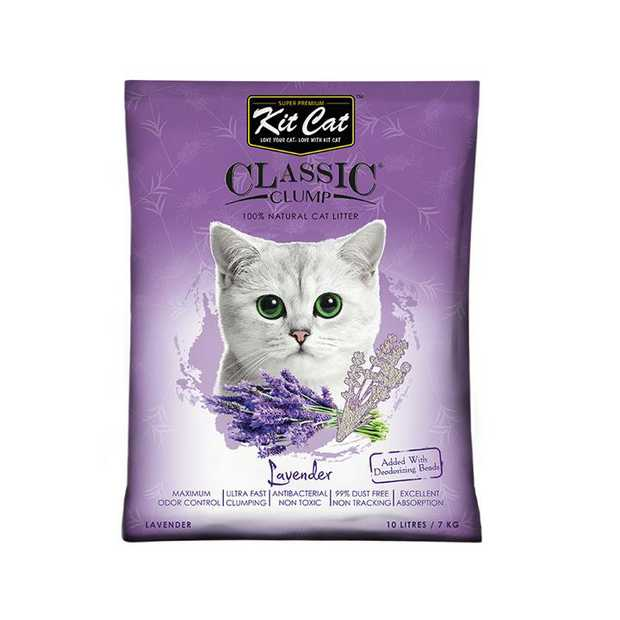 Kit Cat Ultra Fast Classic Clumping Bentonite Cat Litter 10 litres/7kg - Lavender