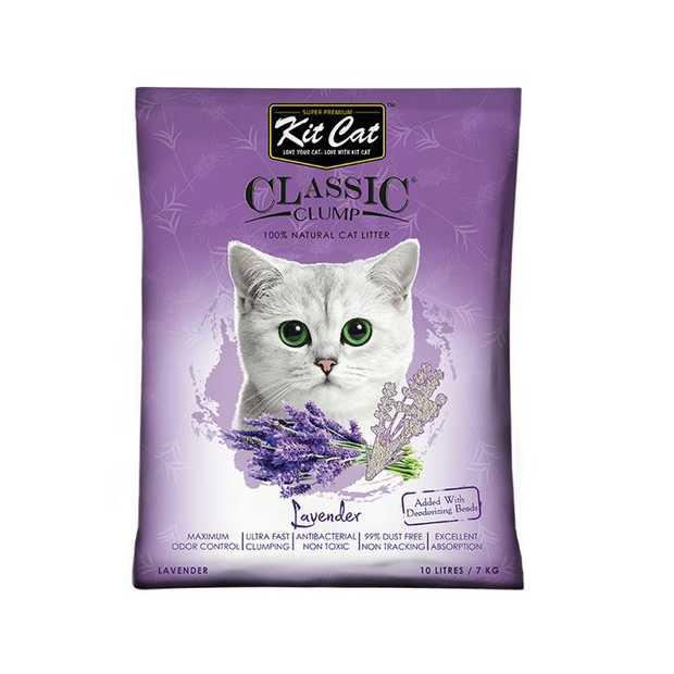 Kit Cat Ultra Fast Classic Clumping Bentonite Cat Litter 10 litres/7kg - Lavender
