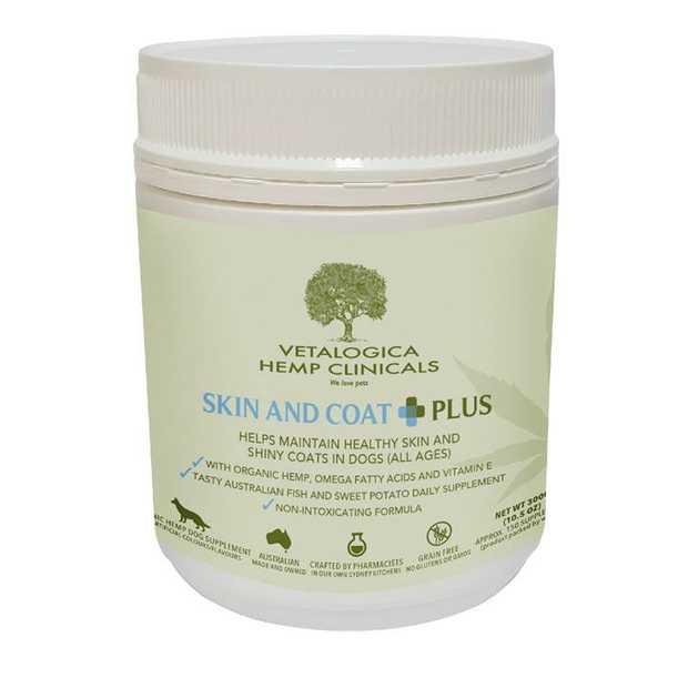 Vetalogica Hemp Clinicals Skin & Coat Plus Dog Supplement 300g
