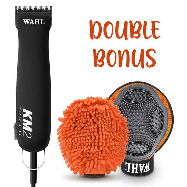Wahl KMSS Pet Clipper Summer Promo with Bonus Grooming Glove & Wet/Dry Mitt